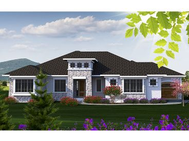 Contemporary House Plan, 020H-0382