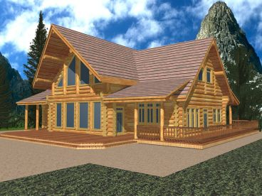 Log Home Design, 012L-0058