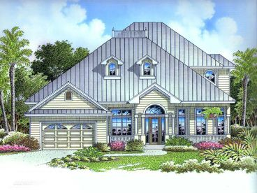 Coastal House Plan, 037H-0031