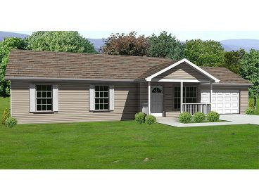 Small Country Home Plan, 048H-0053