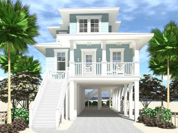 Beach House Plan, 052H-0131