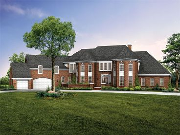 Luxury 2-Story House, 057H-0010