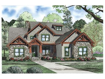Craftsman House Plan, 025H-0216
