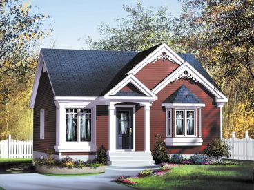 Cottage House Plan, 072H-0246