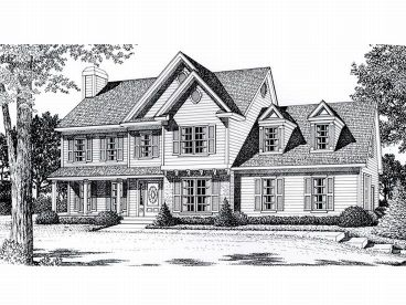 Traditional Home Plan, 018H-0010