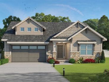 Craftsman House Plan, 031H-0335