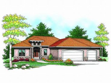 Sunbelt House Plan, 020H-0177
