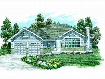 Traditional Home Plan, 032H-0033