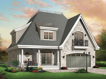 European House Plan, 027H-0167