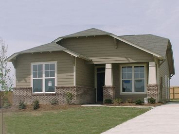 Bungalow House Plan, 073H-0111