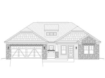 Craftsman Home Plan, 062H-0041