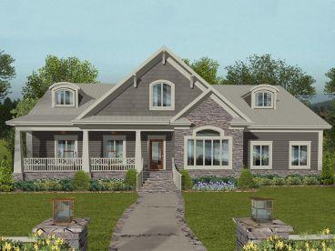 Country European House Plan, 007H-0150
