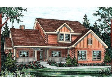 2-Story Log House Plan, 031L-0012