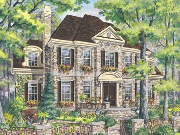 Luxury Colonial House Plan, 072H-0235