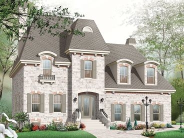 European House Plan, 027H-0261