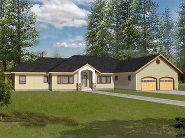 Ranch House Plan, 012H-0015