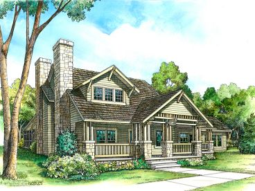 Craftsman House Plan, 008H-0006