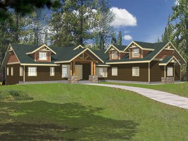 Craftsman House Plan, 012H-0093