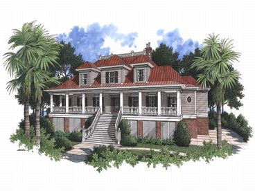 Southern Luxury Home, 017H-0030