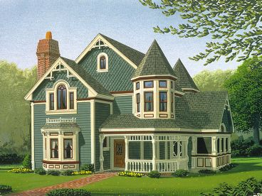 Victorian House Plan, 054H-0008