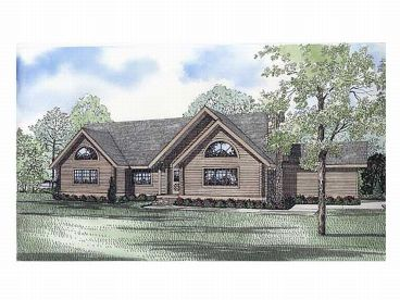 Log Home Plan, 025L-0052