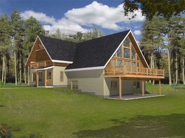 Waterfront Home Plan, 012H-0017