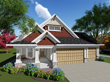 Bungalow House Plan, 020H-0403