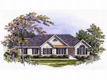 Ranch House Plan, 019H-0051