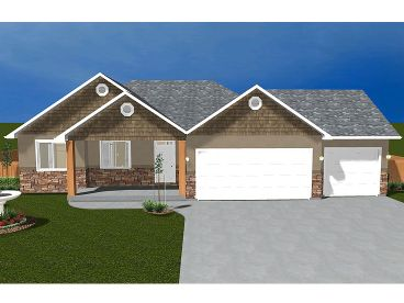 Ranch Home Plan, 065H-0010