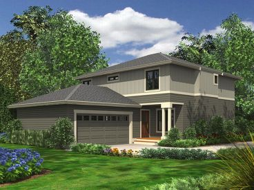 Contemporary Home Plan, 035H-0002