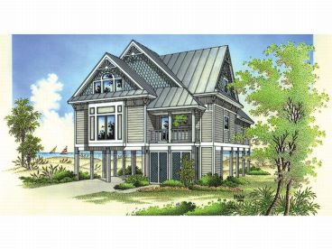 Coastal House Plan, 021H-0106