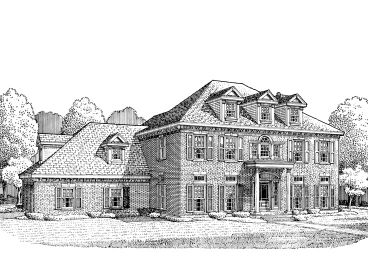 Colonial House Plan, 054H-0079