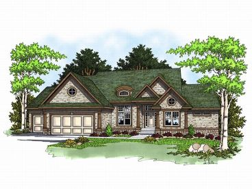 Sloping Lot Home Plan, 020H-0097