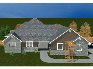 Ranch Home Design, 065H-0040