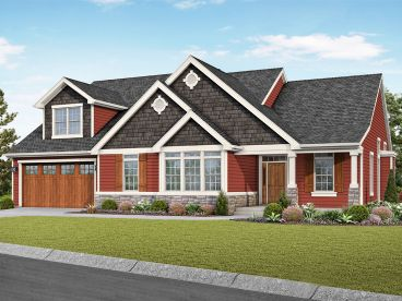 Craftsman House Plan, 034H-0440
