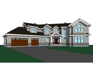Craftsman House Plan, 027H-0475