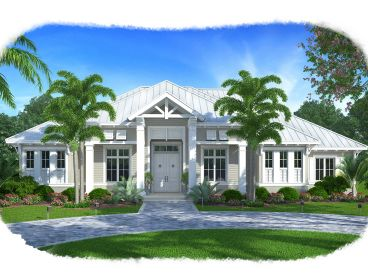 Olde Florida Home Plan, 037H-0211