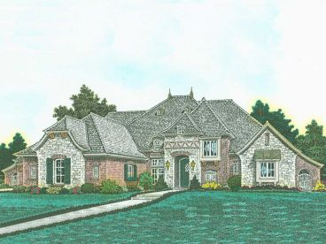 European House Plan, 002H-0119