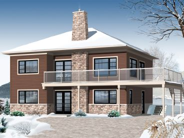 Two-Story House Plan, 027H-0398
