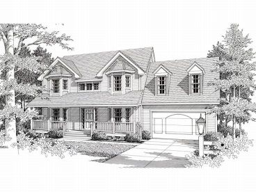Two-Story Home Plan, 018H-0009