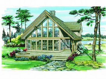 A-Frame House Plan, 032H-0079