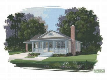 narrow lot home plan 007h 0004