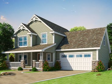 Craftsman House Plan, 031H-0269