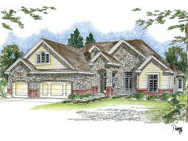 European House Plan, 050H-0061