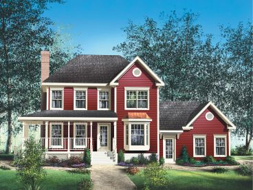 Country Traditional House Plan, 072H-0119