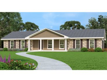Small Ranch House Plan, 021H-0269