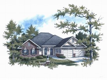 European House Plan, 004H-0075