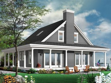 Waterfront House Plan, 027H-0439