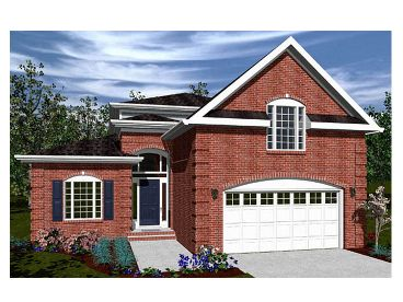 Narrow Lot House Plan, 058H-0095