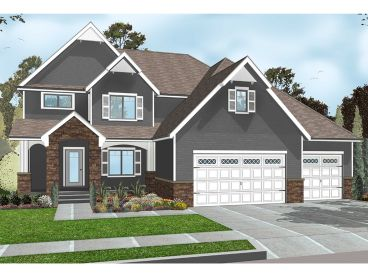 Two-Story Home Plan, 050H-0116